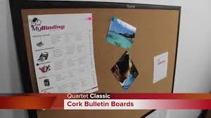 quartet classic cork bulletin board demo youtube