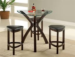 triangle counter height dining table 36 avanti glass triangle counter height table set