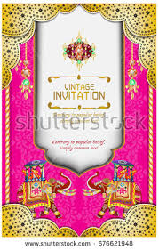hindu wedding invitation cards hindu wedding knot woman stock vector 676621948
