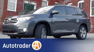 toyota suv cars 2012 toyota highlander suv totally tested review autotrader