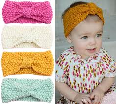 crochet headbands for babies baby 14 inch wool crochet headband handmade knit hairbands