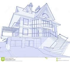 blue prints house modern house blueprint stock photo image 6360230