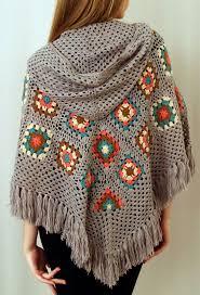 ponchos a palillo maría cielo ponchos tejidos crochet y dos agujas