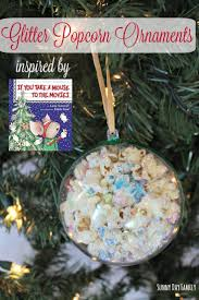 glitter popcorn ornament inspired by if you take a mouse to the
