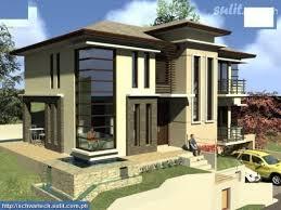 Modern House Roof Design Skilion Roof Facade Garages Underneath Duplex Facades