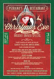 christmas eve 3 course holiday dinner special december 24