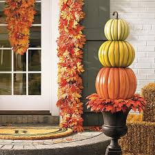 pumpkin topiary grandin road 3 stack pumpkin topiary 7879761 hsn