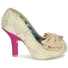 Wedding Shoes Irregular Choice Court Shoes Irregular Choice Mal E Bow Beige Pink Women Shoes