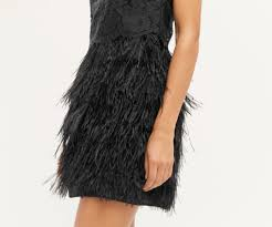 luxe lace u0026 feather dress oasis