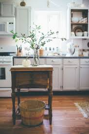 158 best manufactured home kitchens inspo images on pinterest vintage butcher block all white natural wood contrast lovely fresh clean