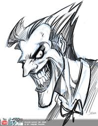 pictures joker sketches easy drawing art gallery