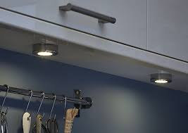 kitchen cabinet lighting b q colours esmo brushed chrome effect mains powered led cabinet light ip20 pack of 3