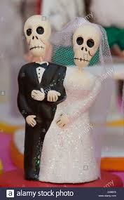 and groom figurines miniature clay figurines of skeleton and groom dressed for