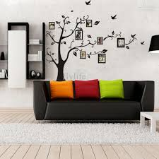 photo frames tree with birds wall stickers large black art home cheap photo frame wall decal best sun cartoon wall decal