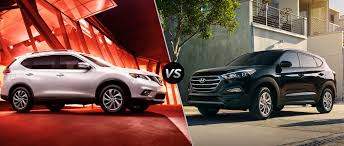 hyundai tucson 2016 brown 2016 nissan rogue vs 2016 hyundai tucson