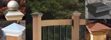 decorative fence post caps u2013 wood vinyl glass u0026 more