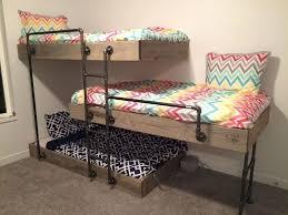 Three Sleeper Bunk Bed Alexa Triple Sleeper Metal Bunk Bed Black Metal Triple Bunk Bed