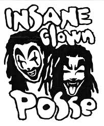 insane clown posse band logo rub on sticker black