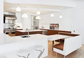 beautiful dining room designs completing your kitchen that add a white modern kitchen design