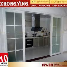 soundproof glass sliding doors half pvc and half glass door half pvc and half glass door