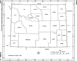 Sheridan Wyoming Map Wyoming Free Map