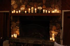 interior living room holiday sofas fireplace table candles breathtaking candles in fireplace pictures ideas