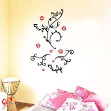 black floral wall stickers decals art craft online store