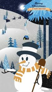 banner snowman moonlight trees sleigh icons vector plant