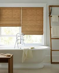 Bathroom Window Treatments Ideas by Wooden Vanity Cabinets Set Wooden Shelving On Grey Wall Dark