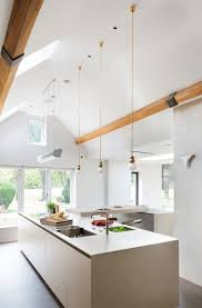 cathedral ceiling kitchen lighting ideas vaulted ceiling lighting ideas skylights mini pendant lights