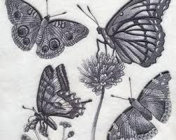 butterfly sketch etsy