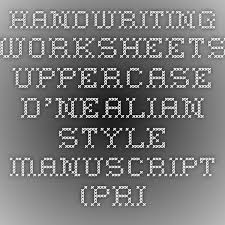 handwriting worksheets uppercase d u0027nealian style manuscript