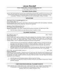culinary resume objective culinary resume templates culinary