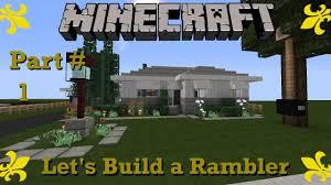 minecraft let u0027s build a rambler ranch house part 1 youtube
