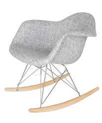 replica eames rar rocking chair textured light grey fabric