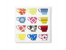 diy kitchen art how to napkin teacups on canvas hgtv