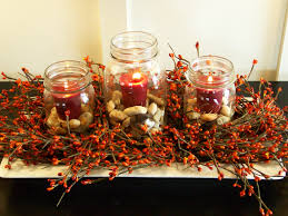 Easy Table Decoration For Christmas by Table Centerpieces For Fall Artofdomaining Com