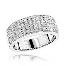 mens diamond wedding rings mens 4 row diamond wedding band 1 39ct 14k gold