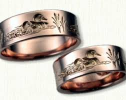 duck band wedding rings gold duck band etsy