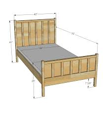 ana white cabin collection single bed diy projects