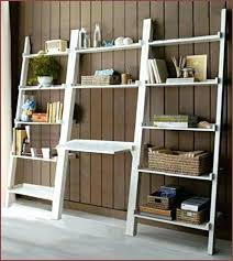 Easy Crate Leaning Shelf And by White Leaning Desk Medium Size Of Ladder White Desk Leaning Ladder