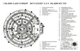 spaceship floor plan star trek blueprints saladin class starship u s s saladin ncc 700