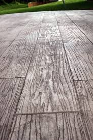 concrete sted to look like wood low maintenance and looks