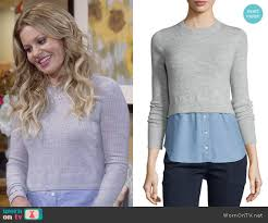 sweater house dj s grey layered sweater on fuller house details https