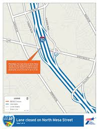 Interstate 10 Map Maps Info Txdot Go10 Closures For The Week Of July 9 El Paso