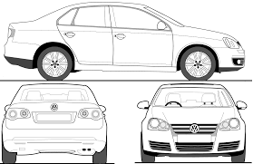 volkswagen drawing car blueprints volkswagen jetta v 1k blueprints vector