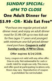 Menu For Hometown Buffet by Free Restaurant Printable Coupons Fast Food Restaurant Coupons