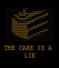 The Cake Is A Lie Meme - the cake is a lie memeology