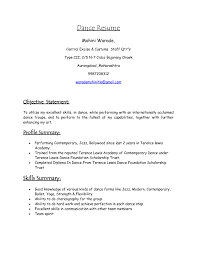 professional dance resume how to make a dance resume free resume example and writing download