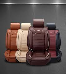 car chair covers aliexpress buy brown beige brand luxury leather car seat